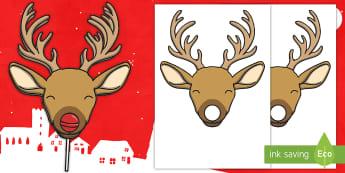 Rudolph Lollipop Nose Cut-Outs - Rudolph Lollipop Nose Cut-Outs  - rudolph, reindeer, christmas, santa, xmas, raindeer, father christ