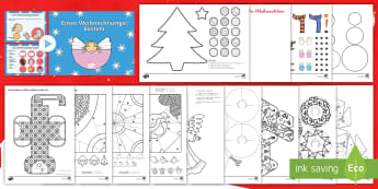 Weihnachtliche Bastelvorlagen und anleitungen Materialienbündel - Weihnachten, Advent, Dezember, Feiertage, Basteln, ,German