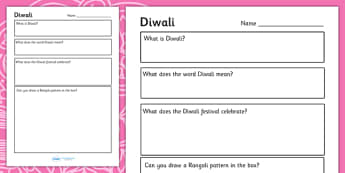 EYFS Diwali PowerPoint Worksheets - hindu, RE, festival of lights