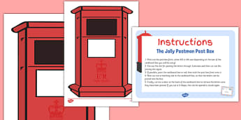 Small Role Play Post Box Cut Out to Support Teaching on The Jolly Postman - EYFS, KS1 Early Years, role play, EAD, Expressive Arts and Design, postman, Post Office