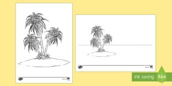 Doodle Draft Island Activity Sheet