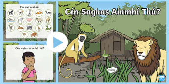 'Which Animal Are You?' Gaeilge PowerPoint - Gaeilge, Oral language, Game, animals, Powerpoint,Irish