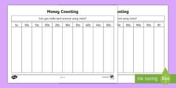 Sorting Money Activity Sheet - maths, money, currency,sorting money, rands, cents,coins,  south African currency, KS1 mathematics