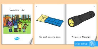 Camping Trip eBook - Summer, summer season, first day of summer, summer vacation, summertime, camping, beginning readers,