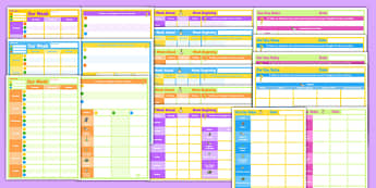 Daily and Weekly Home Educator Planning Templates Pack - plan