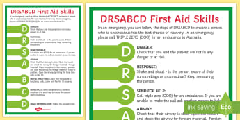 First Aid   Dr ABC Display Poster-Australia - responsive, first aid, Dr ABC, airways, breathing, circulation, emergency, care, 1st aid,Australia