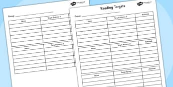 Half Termly Group Reading Targets- reading, reading targets, targets, group targets, half term, half term targets, reading goals, literacy