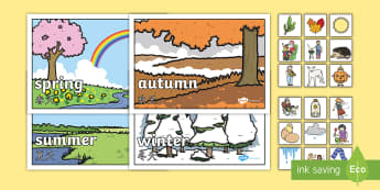 Seasons Sorting Activity English/Mandarin Chinese - seasons, sorting, activity, game, EAL, cut-out, sort