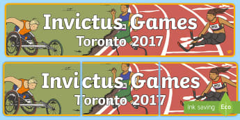 Invictus Games Time and Place Banner - header, sports