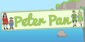 Peter Pan Display Banner - peter pan, display, banner, peter