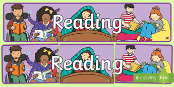 Reading Display Banner - New Zealand Class Management, nz, classroom, setting, areas, books, library