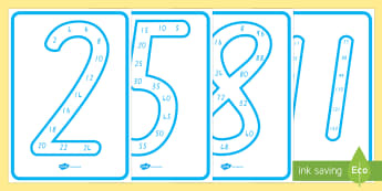 Number Multiples Display Posters - New Zealand, maths, skip counting, multiples, displays, Years 1-3, counting in 5s, fives, tens, coun