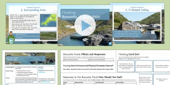 Boscastle Floods Lesson Pack - Secondary - Geography - Flooding