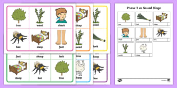 Phase 3 ee Sound Bingo - phonics, phoneme, game, phase 3, activity, worksheet, letters and sounds, qu