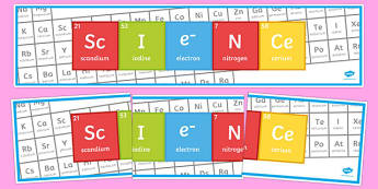 Science Periodic Table Display Banner - science, periodic table, display banner, display, banner