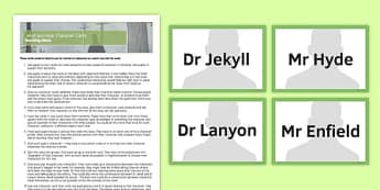 Jekyll and Hyde Character Cards Pack - jekyll and hyde, character cards, character, cards, resource pack