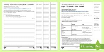 AQA Eng Lang P1 Q4 'Birdsong' Mini Exam Pack - AQA GCSE Specific Question Resources, structure, language, evaluation, Question 4, revision, Birdson