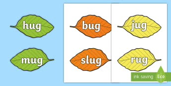 Rhyming Words on Leaves Matching Cards - games, activities, activity, rhyming, matching, leaves, autumn
