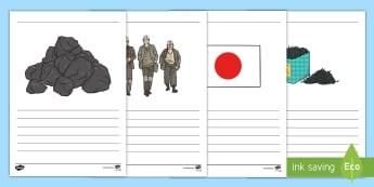 Thomas Blake Glover Writing Frames Pack - Scottish significant individual, Japan, Scotland, Scottish samurai, Aberdeen, Fraserburgh, Nagasaki,