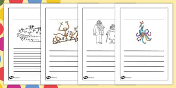 Writing Frames to Support Teaching on The Twits - writing frame, the twits, roald dahl