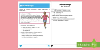 Cross Country Running Reading Comprehension Activity Sheet Te Reo Māori - Cross Country, Running, Reading Comprehension, Activity Sheet, Omaroa, worksheet
