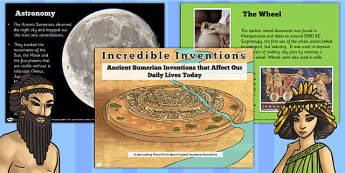 Ancient Sumerian Inventions Informative PowerPoint - sumer
