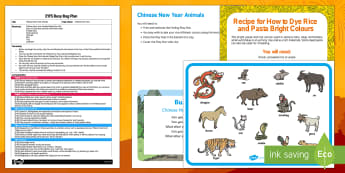 EYFS Chinese New Year Animals Finding Busy Bag Plan and Resource Pack - Chinese New Year, Rooster, babies, sensory, animals,