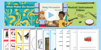 CFE Early Level Expressive Arts Musical Instruments Resource Pack - listening, sound, pitch, tone, group, singing, music, body percussion, ,Scottish