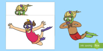 Snorkelling  Display Cut-Outs - Snorkelling  Display Cut-Outs