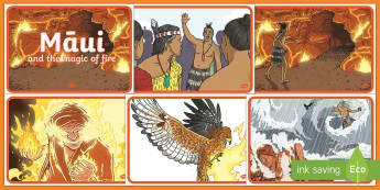 Māui and the Magic of Fire Story Sequencing - Maui Myths Maori legends