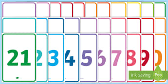 Numbers 0-30 A4 Simple Display Posters  - EYFS Number ELG, mathematics, early years, EYFS Planning, numbers, counting, thirty, 0-30,