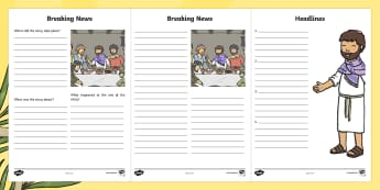 Easter Story Breaking News Writing Frames - easter, story, breaking, news, frame