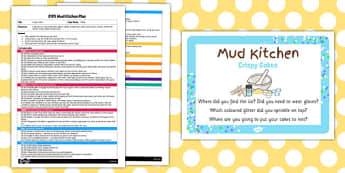 Crispy Cakes EYFS Mud Kitchen Plan and Prompt Card Pack - mud kitchen
