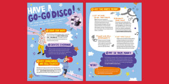 Sport Relief 2018 Nursery Go-Go Disco Planning - sports relief, fund raising, sport, raise money, step challenge,