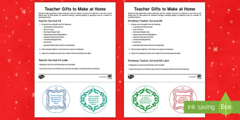 Survival Kit Teacher Gift Step-by-Step Instructions - home made, present, christmas, end of year, parents, thank you