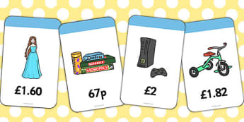 Toy Shop Prices Flashcards - flashcards, toy shop, prices, toys