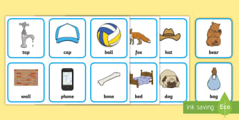 Rhyming Cards - phase 1, phonics, words, letters and sounds, nursery Rhymes, snap, matching, memory
