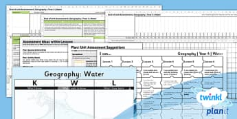Geography: Water Year 4 Unit Assessment Pack