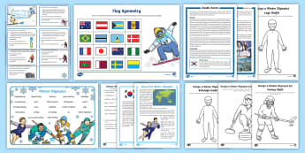 KS1 Winter Olympics 2018 Resource Pack - south korea, pyeongChang 2018, winter olympics activities, winter sports, pyeongchang