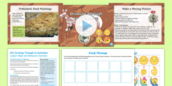 KS1 Drawing Through to Animation Resource Pack - the big draw, art, illustrations, cartoons, y1 and y2