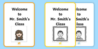 Avatar Creator Template Welcome to Class Sign - display, sign, display sign, display, welcome to the class sign, welcome to the class poster, avatar poster, avatar template poster, posters, A4 posters, poster, classroom display posters
