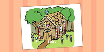 Editable Gingerbread House Sign - gingerbread, house, sign, edit