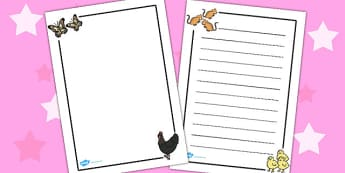 Story Page Borders to Support Teaching on Handa's Hen - border, frames, write