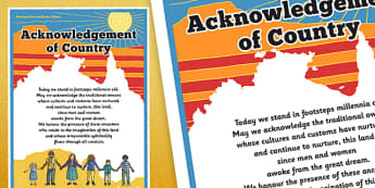National Reconciliation Week Acknowledgement of Country Display Poster - australia, National Reconciliation Week, Acknowledgement of Country, information, display poster