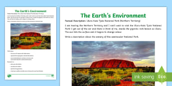The Earth's Environment - Factual Description National Parks Set 2 Writing Stimulus Picture - The Earths Environment, Australia, National Parks, Information Report, English, Geography, Year 3, Y