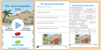 The Good Samaritan Quiz - the good samaritan, quiz, activity, christianity, parable, samaritan