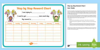 Step by Step Behaviour Chart Parent and Carer Information Sheet - organisation, help, advice, support, behaviour, reward