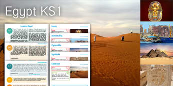 Imagine Egypt KS1 Resource Pack - egypt, caravan, symbols, hieroglyphics, pyramid, sphinx, mask, alexandria, tutankhamun
