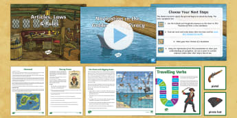 Pirate Ships Sound Story Chapter 5 Follow-Up Lesson Pack - immersive, audio, Pirates, Pirate Ships, International Talk Like A Pirate Day, Sound Stories, Sound