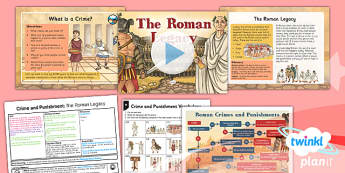 History: Crime and Punishment: The Roman Legacy LKS2 Lesson Pack 1